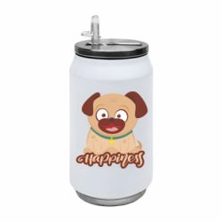 Термобанка 350ml Happy pug