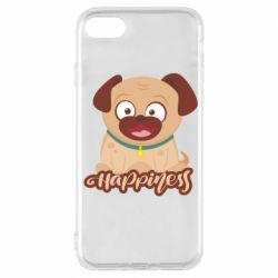 Чехол для iPhone 7 Happy pug