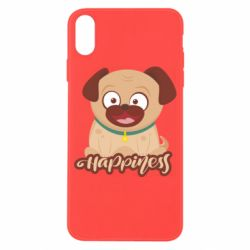Чехол для iPhone X/Xs Happy pug