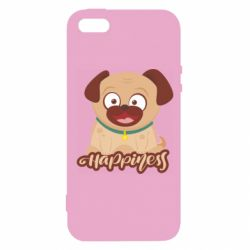 Чехол для iPhone5/5S/SE Happy pug