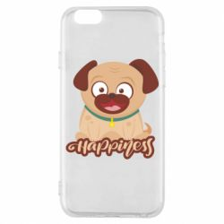 Чехол для iPhone 6/6S Happy pug