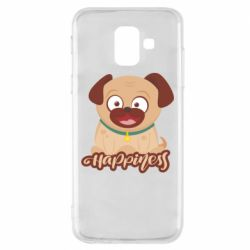 Чехол для Samsung A6 2018 Happy pug