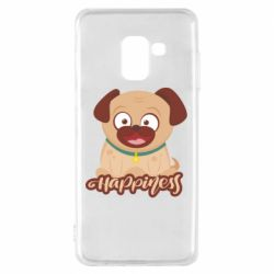 Чехол для Samsung A8 2018 Happy pug