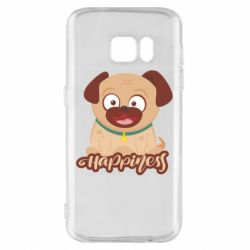 Чехол для Samsung S7 Happy pug