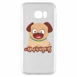 Чехол для Samsung S7 EDGE Happy pug