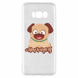 Чехол для Samsung S8 Happy pug