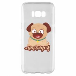 Чехол для Samsung S8+ Happy pug