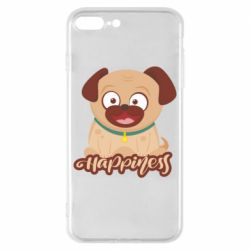 Чехол для iPhone 8 Plus Happy pug