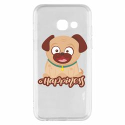 Чехол для Samsung A3 2017 Happy pug
