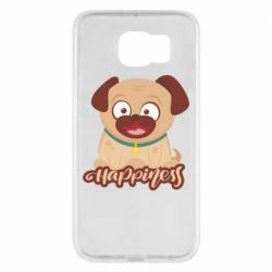 Чехол для Samsung S6 Happy pug