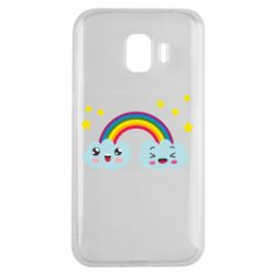 Чехол для Samsung J2 2018 Happy rainbow