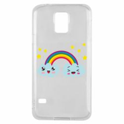 Чехол для Samsung S5 Happy rainbow