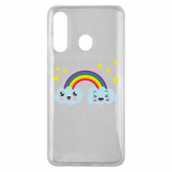 Чехол для Samsung M40 Happy rainbow