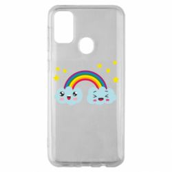 Чехол для Samsung M30s Happy rainbow