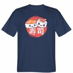 Мужская футболка Happy sushi