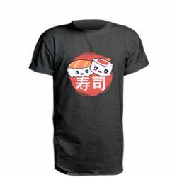 Удлиненная футболка Happy sushi