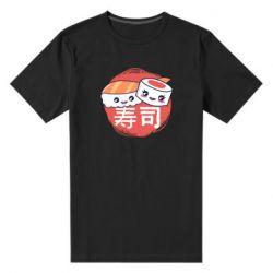 Мужская стрейчевая футболка Happy sushi