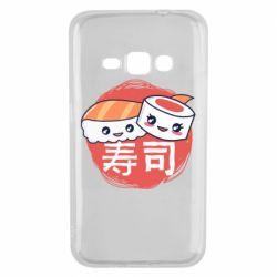 Чехол для Samsung J1 2016 Happy sushi