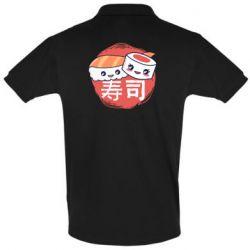 Мужская футболка поло Happy sushi