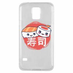 Чехол для Samsung S5 Happy sushi