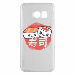 Чехол для Samsung S6 EDGE Happy sushi