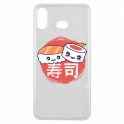 Чехол для Samsung A6s Happy sushi