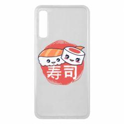 Чехол для Samsung A7 2018 Happy sushi