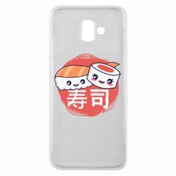 Чехол для Samsung J6 Plus 2018 Happy sushi