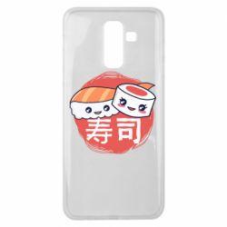 Чехол для Samsung J8 2018 Happy sushi
