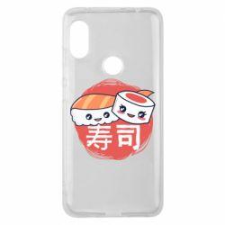 Чехол для Xiaomi Redmi Note 6 Pro Happy sushi