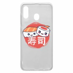 Чехол для Samsung A20 Happy sushi