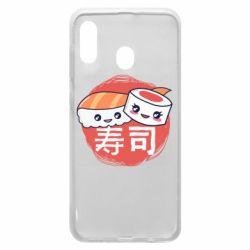Чехол для Samsung A30 Happy sushi