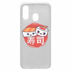 Чехол для Samsung A40 Happy sushi