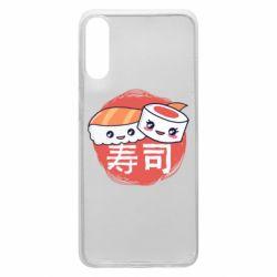 Чехол для Samsung A70 Happy sushi