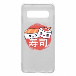 Чехол для Samsung S10 Happy sushi