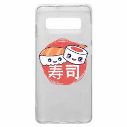 Чехол для Samsung S10+ Happy sushi