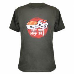 Камуфляжная футболка Happy sushi