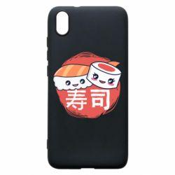 Чехол для Xiaomi Redmi 7A Happy sushi