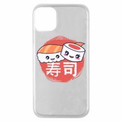 Чехол для iPhone 11 Pro Happy sushi