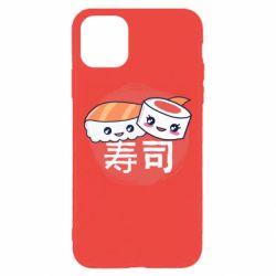 Чехол для iPhone 11 Pro Max Happy sushi