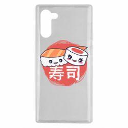 Чехол для Samsung Note 10 Happy sushi