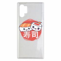 Чехол для Samsung Note 10 Plus Happy sushi