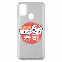 Чехол для Samsung M30s Happy sushi