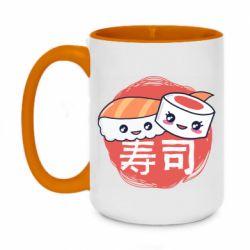 Кружка двухцветная 420ml Happy sushi