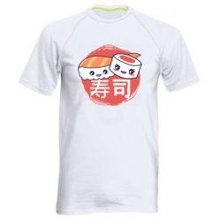 Мужская спортивная футболка Happy sushi