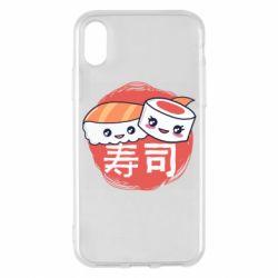 Чехол для iPhone X/Xs Happy sushi