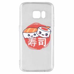 Чехол для Samsung S7 Happy sushi