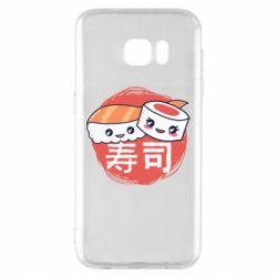 Чехол для Samsung S7 EDGE Happy sushi