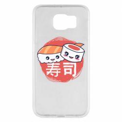 Чехол для Samsung S6 Happy sushi