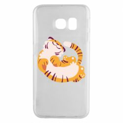 Чохол для Samsung S6 EDGE Happy tiger